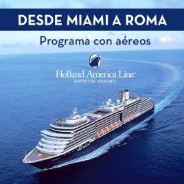 Transatlantico Holland de Miami A Roma
